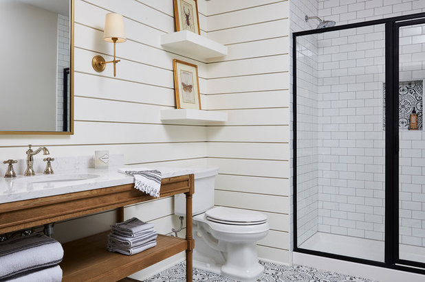 Farmhouse Bathroom by Sneak Peek Design