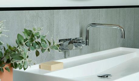 Badeværelset er minimalistisk, magisk og botanisk på samme tid