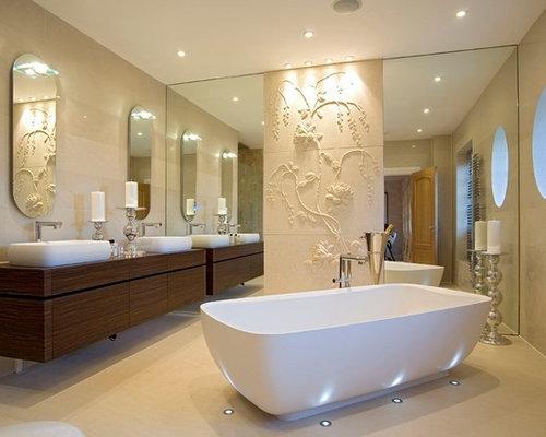 Luxury bathroom lighting houzz freestanding bathtub contemporary freestanding bathtub idea in london with a vessel sink mozeypictures Gallery