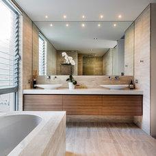 Beach Style Bathroom by Liz Prater Design Home