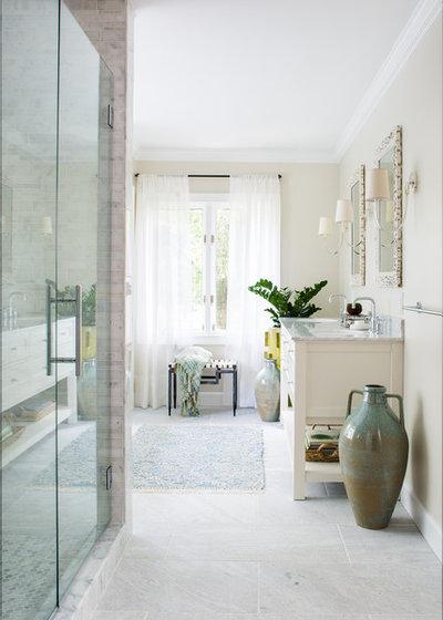 Transitional Bathroom by Beth Kooby Design