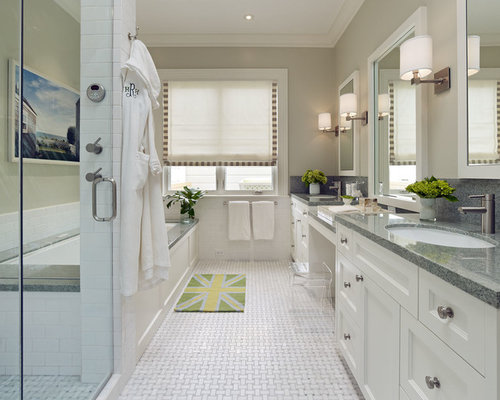 gray granite countertop bathroom design ideas remodels photos