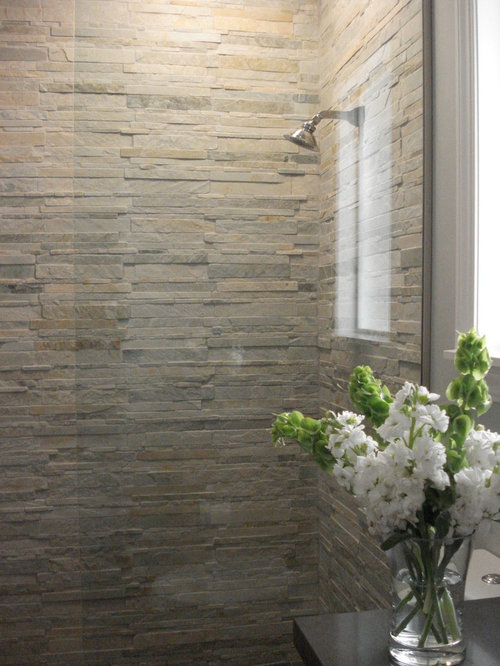 stacked stone tile home design ideas pictures remodel  decor
