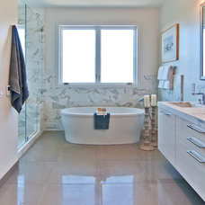 Traditional Bathroom by Green Couch Interior Design