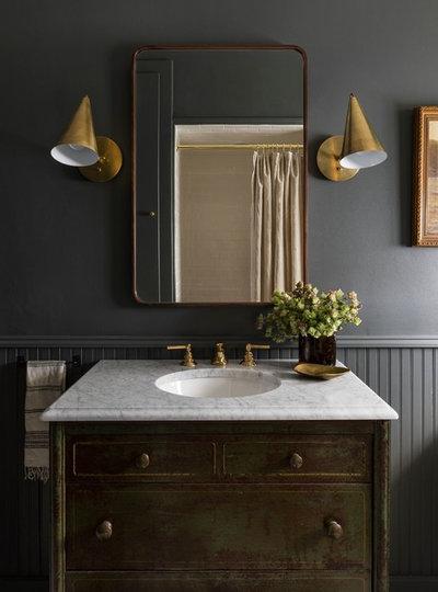 Traditional Bathroom by Heidi Caillier Design