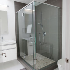 Midcentury Bathroom by George Boulanger Construction Inc.