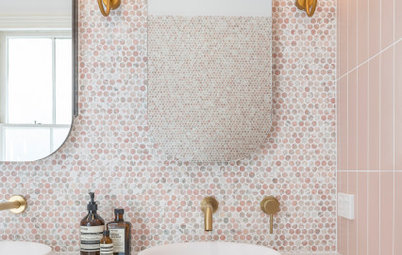 Room of the Week: A Bathroom and Wardrobe That Are Pretty in Pink