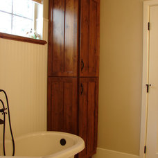 Craftsman Bathroom by Castle Kitchens and Interiors