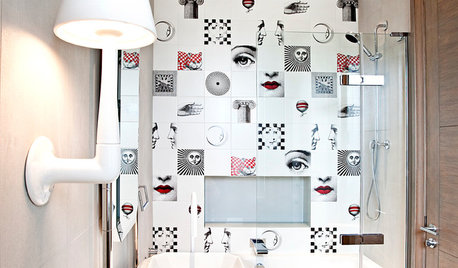 26 Small Bathrooms With Arty, Patterned Tiles