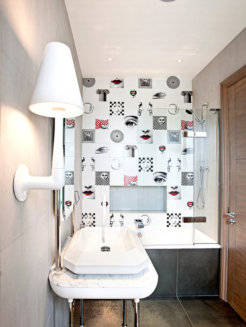 How To Create A Greyscale Bathroom: Grayscale Home Design Ideas, Pictures, Remodel And Decor