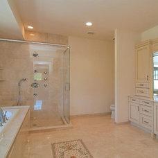 Contemporary Bathroom Pale Pink Bathroom