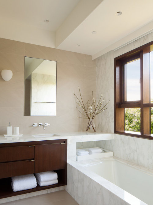 spa look bathroom houzz. Black Bedroom Furniture Sets. Home Design Ideas