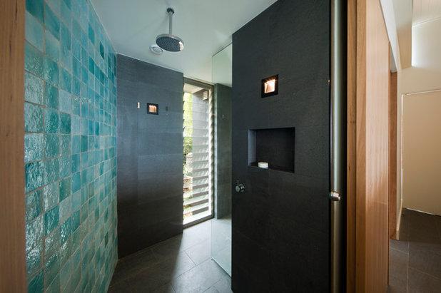 Houzzbesuch leben wie im hotel ein aussie kopiert sein for Badezimmer justin