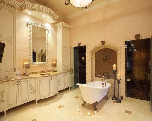 Rustic Brown Wet Room Design Ideas, Remodels & Photos