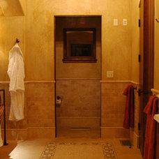 Mediterranean Bathroom by John Cinti Designs, LLC