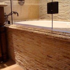 Mediterranean Bathroom by Sullivan's Stone Factory