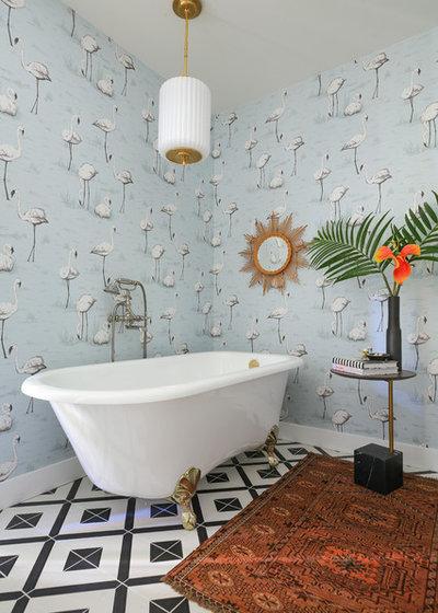 Eclectic Bathroom by Murphy Deesign