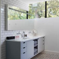 Modern Bathroom by Honea Woodworks