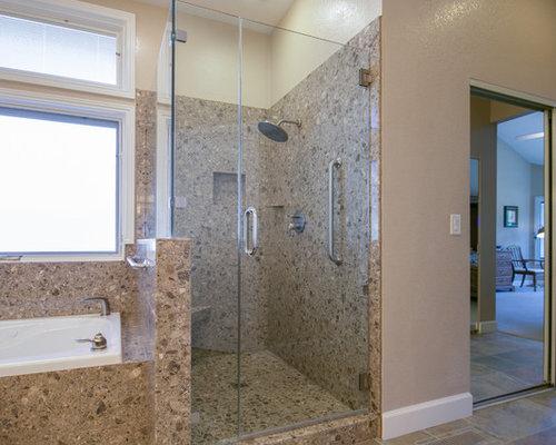 Vasca Da Bagno Sottopiano : Stanza da bagno con top alla veneziana e pavimento in ardesia