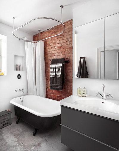 Industrial Bathroom by Lisa Petrole Photography