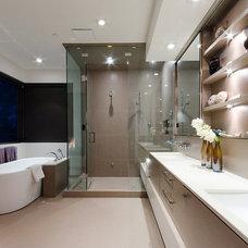 Contemporary Bathroom by Heffel Balagno Design Consultants