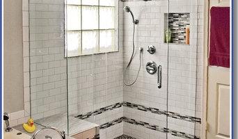 Palmetto Bay frameless shower door installation