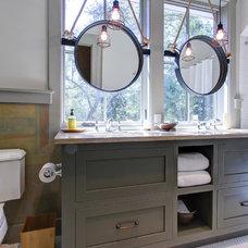 Farmhouse Bathroom by Litchfield Cabinetry and Trim, LLC