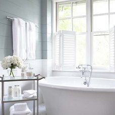Traditional Bathroom by Linda McDougald Design | Postcard from Paris Home