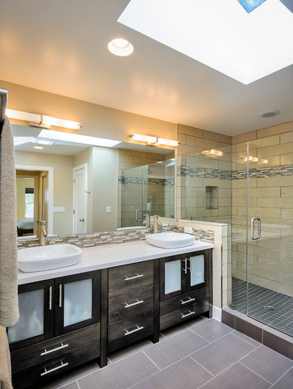 Contemporary Bathroom by CleverHomes presented by Toby Long Design