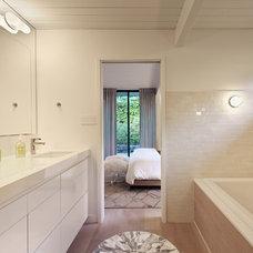 Midcentury Bathroom by Flegel's Construction Co., Inc.