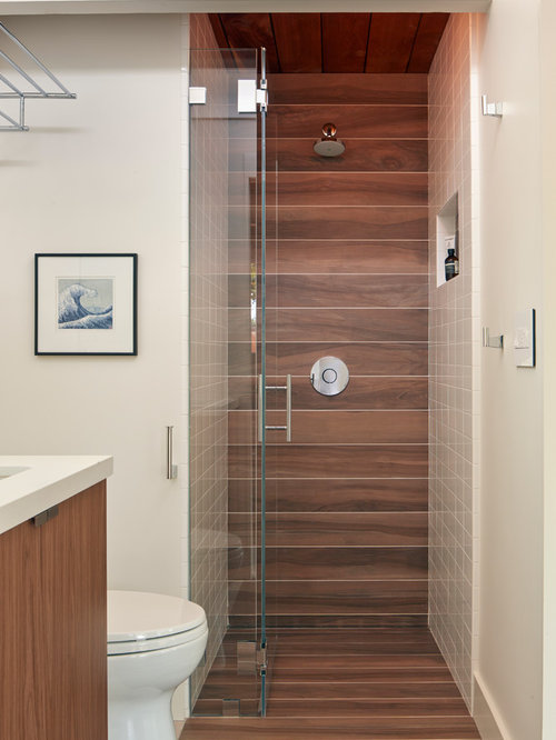 Wood Tile Shower Home Design Ideas Pictures Remodel And