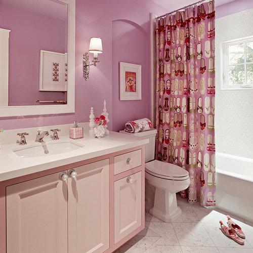 Pink Bathroom Design Ideas, Renovations & Photos