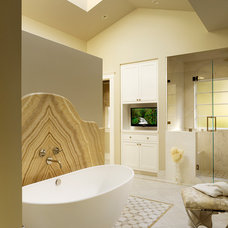Transitional Bathroom by Melanie Coddington