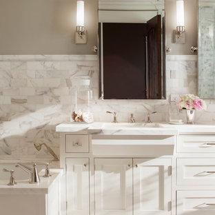 Bathroom - traditional mosaic tile bathroom idea in San Francisco
