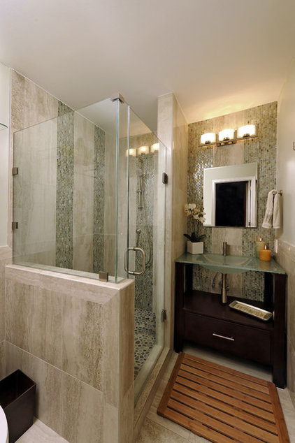 asian bathroom by Davida's Kitchen & Tiles