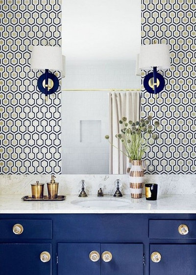 Midcentury Bathroom by Stéphanie Fortier Design