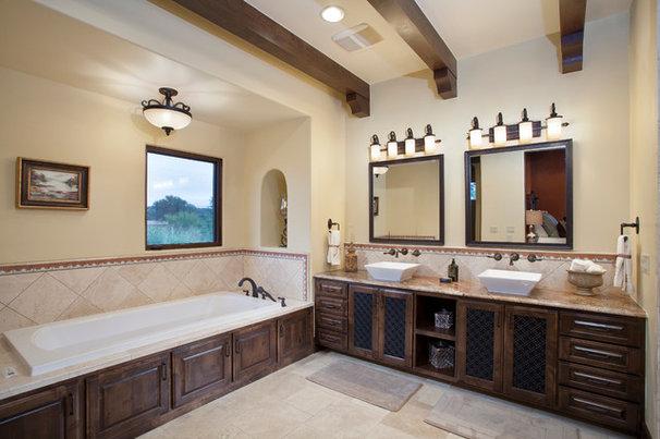 Southwestern Bathroom by Bella Villa Design Studio