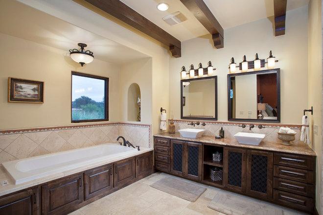 Mediterranean Bathroom by Bella Villa Design Studio