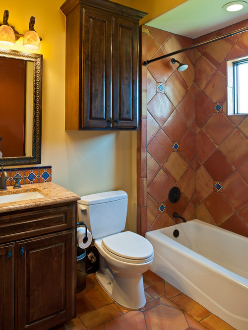 SaveEmail. Bathroom Design Ideas  Remodels   Photos with Terra Cotta Tile
