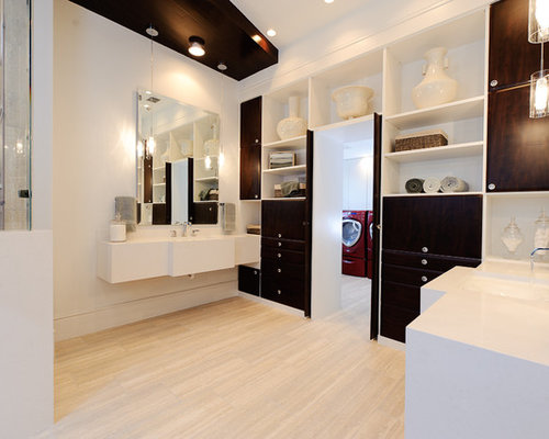 Laundry In Master Closet Home Design Ideas Pictures