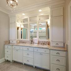 Traditional Bathroom by June DeLugas Interiors