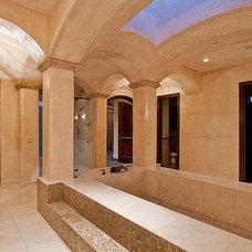 Mediterranean Bathroom by Carmel Homes Design Group