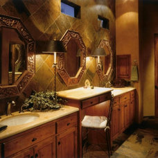 Mediterranean Bathroom by Debra May Himes Interior Design & Associates, LLC