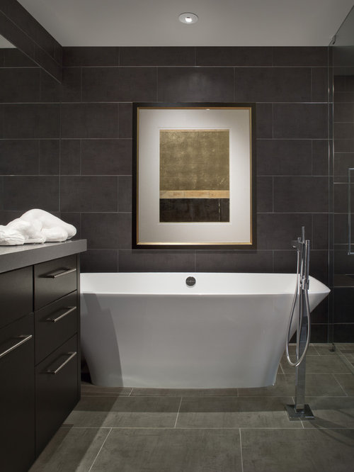 Dark Grey Tile Houzz