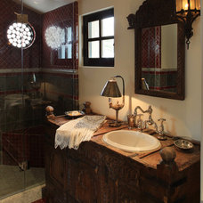Mediterranean Bathroom by PavoReal Interiors