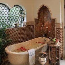Mediterranean Bathroom by PavoReal Interiors
