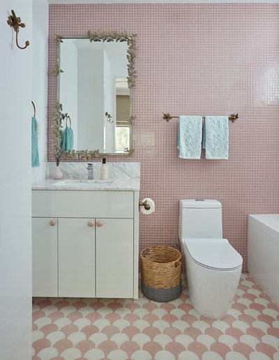 Transitional Bathroom by E & A Interiors