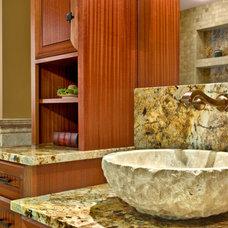 Mediterranean Bathroom by Master Remodelers Inc.
