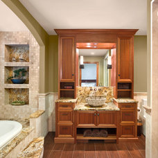 Mediterranean Bathroom by Master Remodelers Inc.