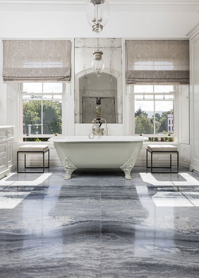 Traditional Bathroom by Miller Brothers Stone